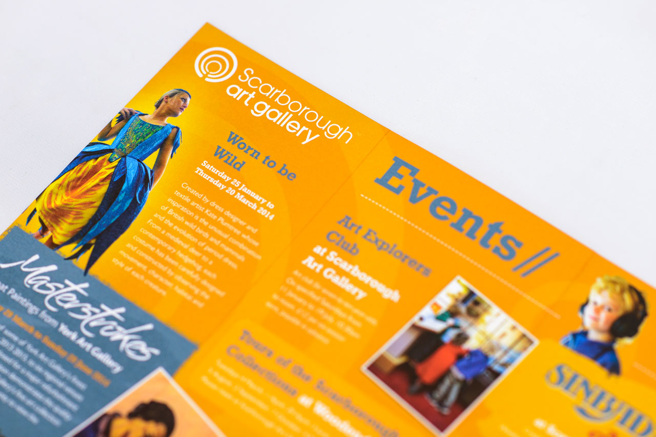 Scarborough Museums Trust events guide graphic design