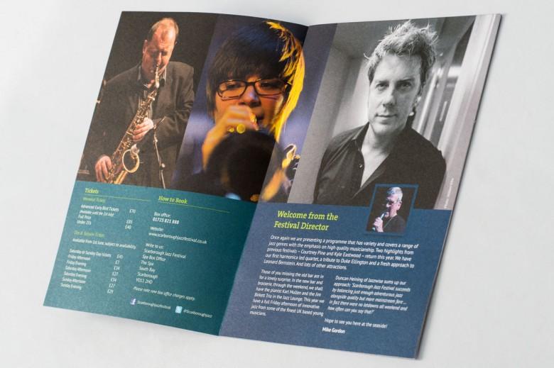 Scarborough Jazz Festival graphic design