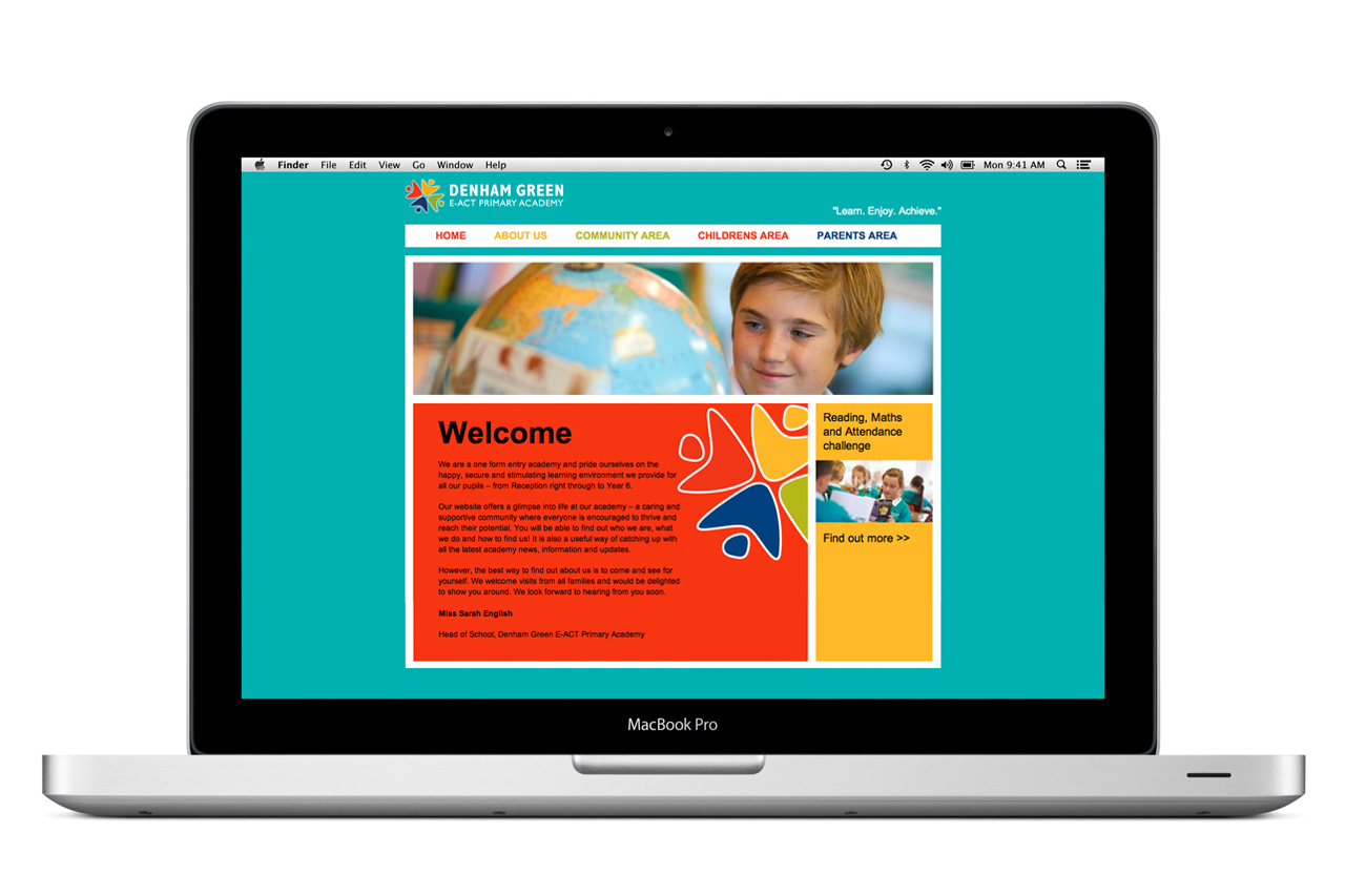 school website design by contentcaretaker.co.uk