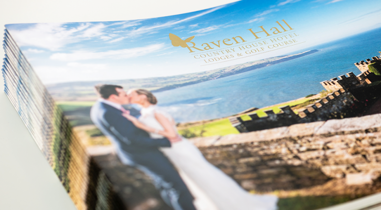 Raven Hall Hotel wedding brochure design