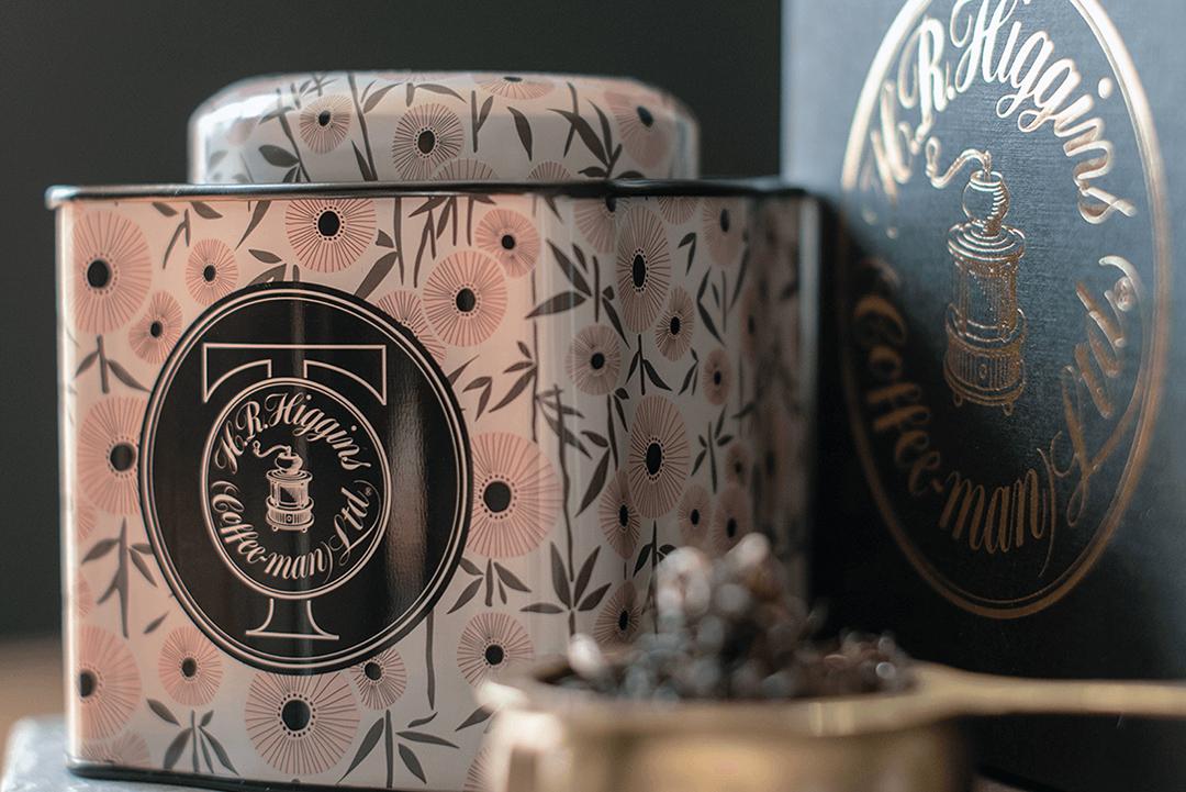Artwork for HR Higgins tea caddy